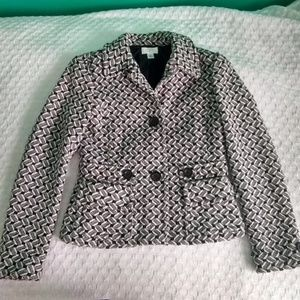 Black and White Ann Taylor Women's Jacket